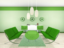 Green Interior Royalty Free Stock Photography