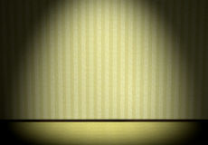 Green interior. Interior green stripe wall floor with carpet Stock Photography