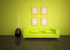 Green interior composition Royalty Free Stock Images