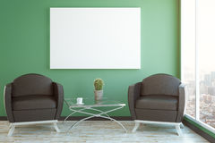 Green interior with poster Stock Photography