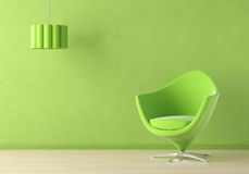 Green interior scene Royalty Free Stock Photo