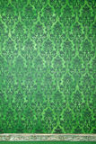 Green interior of vitnage room with pattern elements Stock Photo