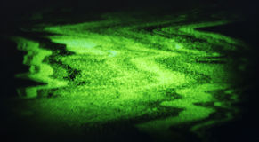 Green interlaced tv static noise Royalty Free Stock Photography