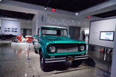 Green 1961 International Scout 80 truck by Harvester Royalty Free Stock Photo