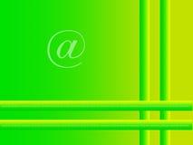 Green internet background. Green bars with internet @ symbol royalty free illustration