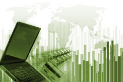 Green Internet concept Stock Images