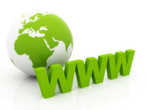 Green internet Planet Earth Royalty Free Stock Image