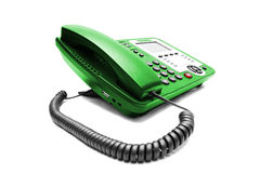 Green IP office phone isolated Stock Photography