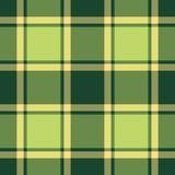 Green ireland plaid seamless fabric texture Royalty Free Stock Photography