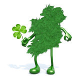 Green ireland and shamrock three leaf Stock Photography