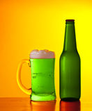 Green Irish beer Stock Photography