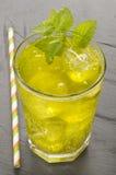 Green irish saint patrick day lemonade Stock Photography