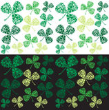 Irish Shamrocks Clover Pattern Background Royalty Free Stock Image