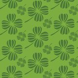 Green Irish shamrocks design in a stylized modern style. Ideal for St Patricks day, home decor, fabric, stationery vector illustration