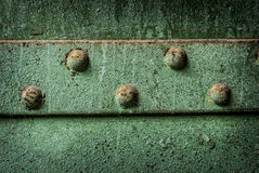 Green Iron Rivets Royalty Free Stock Photo