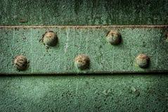 Green Iron Rivets Royalty Free Stock Photo