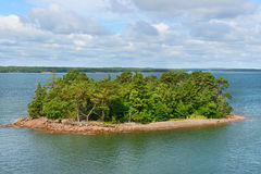 Green island in the archipelago of the Aland Islands Royalty Free Stock Photo