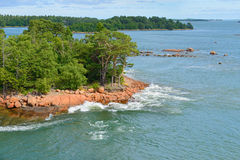 Green island in the archipelago Royalty Free Stock Images