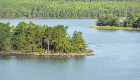Green island in Baltic Sea Royalty Free Stock Photo