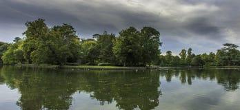 Green island - Claremont Lake ,Esher Royalty Free Stock Images