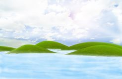 Green island in the sea Stock Photography