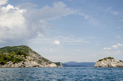 Green island in the sea Royalty Free Stock Images