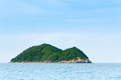 Green island and sea nature landscape in Songkhla Thailand. Nature And Nobody Desert Island Stock Photos