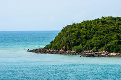 Green island and sea nature landscape Royalty Free Stock Photo