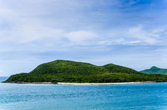 Green island and sea nature landscape Royalty Free Stock Image