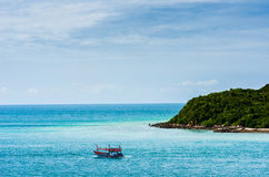 Green island and sea nature landscape Royalty Free Stock Photography