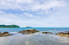 Green island and sea nature landscape Stock Photography