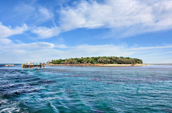 Green Island on sunny day Royalty Free Stock Photography