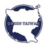 Green Island, Taiwan vector map. Stock Image