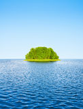 Green island. Among the water Stock Photography