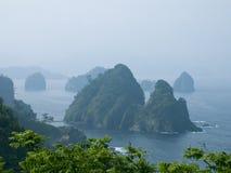 Green Islands. Beautiful Dogashima Islands, Izu peninsula , Japan Royalty Free Stock Image