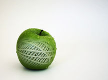 Green isolated apple texture concept Stock Photography