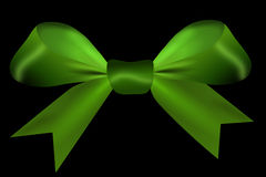 Green isolated on a black background Royalty Free Stock Image