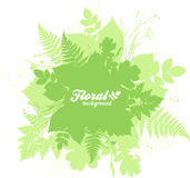 Green isolated foliage silhouettes trendy banner Royalty Free Stock Photo