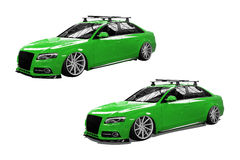 Green isolated modern car Stock Image