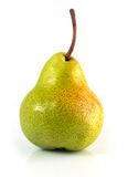 Green isolated pear Royalty Free Stock Photography