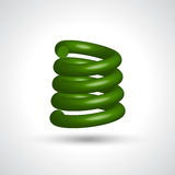 Green isolated spiral. On white background. Vector illustration Royalty Free Stock Photo