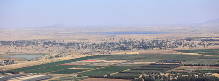Green Israel, Yellow Abandoned Zone, Syria Royalty Free Stock Image