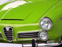 Green italian car stock photo