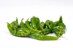 Green Italian chili Royalty Free Stock Photos