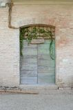 Green italian door Royalty Free Stock Photography