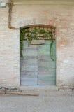 Green italian door Royalty Free Stock Photography