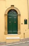 Green italian front door Stock Image