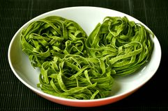 Green Italian pasta Stock Image