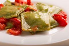 Green Italian ravioli Royalty Free Stock Image