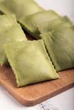 Green Italian ravioli Stock Photography